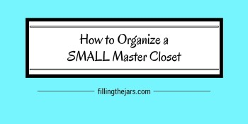 """How to Organize a Small Master Closet 