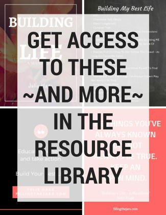 New Resource Library Available! | www.fillingthejars.com | I'm so happy to announce that Filling the Jars has a new feature! New subscribers will receive access to the new FREE private Resource Library. Keep reading to find out what it's all about...
