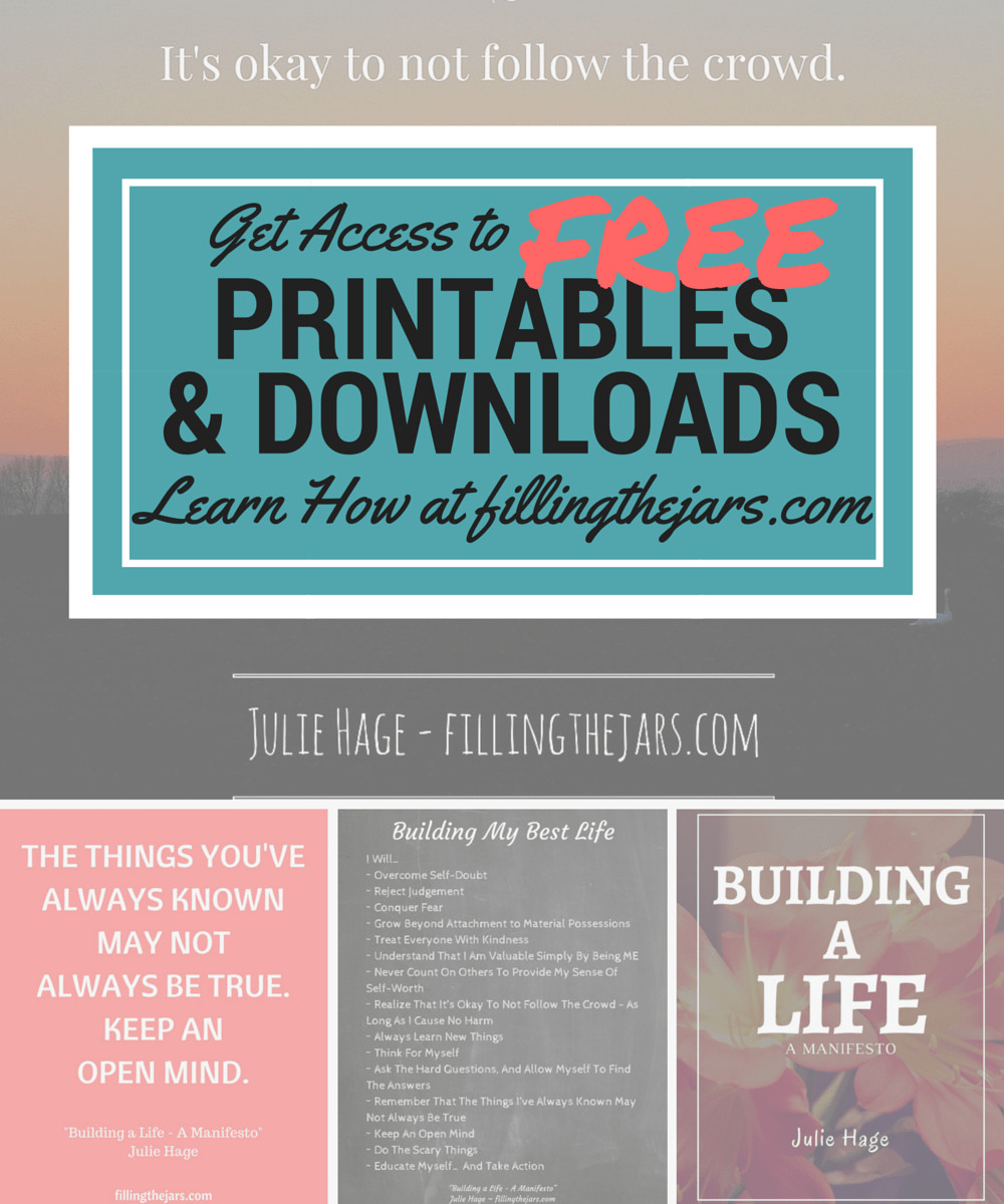 New Resource Library Available! | www.fillingthejars.com | I'm so happy to announce that Filling the Jars has a new feature! New subscribers will receive access to the new FREE private Resource Library with a growing collection of downloads and printables. Keep reading to find out what it's all about...