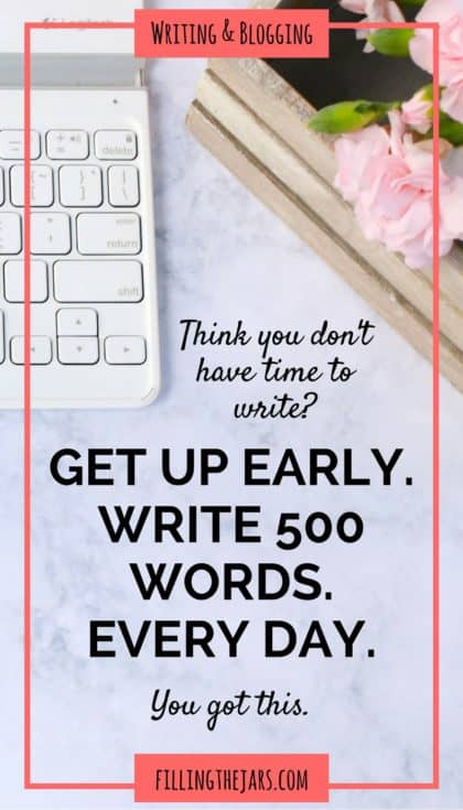 If you're a writer or a blogger, you know how important it is to find time to write. Click through to read about rediscovering the magic of writing -- and how to find time to do it. #morningwriting #my500words #dailyroutine #goals #writinglife #writingtips #buildyourbestlife #ftj