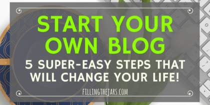 How to Start a Blog: The Super-Easy 5-Step Beginner Guide   Something magical happens when you become a blogger. Click through for the easy beginner guide on how to start a blog and change your life today!   www.fillingthejars.com