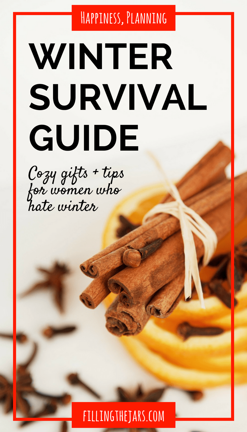 The Indoorsy Woman's Ultimate Winter Survival Guide | This is exactly what I needed today! Cozy Gifts + Practical Tips for Women Who Hate Winter -- Check out this ultimate winter survival guide! | www.fillingthejars.com