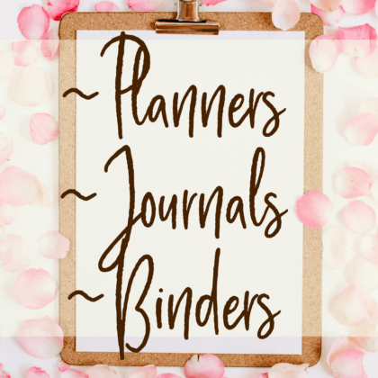 Organize your time and your life with these binder accessory and planner recommendations, plus journals for when you're ready to get your thoughts and feelings out on paper. Click through to check it out...