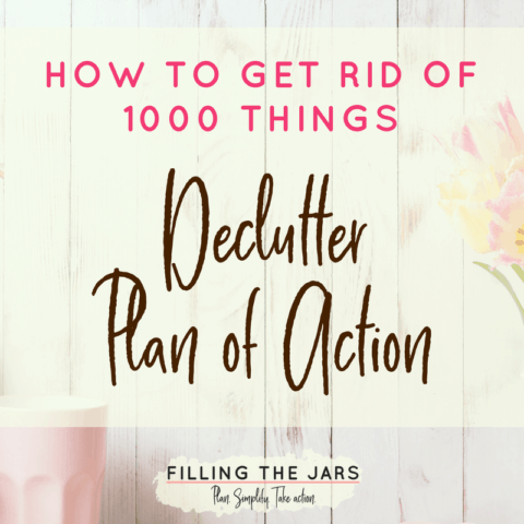 If you're overwhelmed by clutter, you HAVE to check out this action plan! From your kitchen to your clothes to all that paper, you can conquer the clutter with the tips in this printable plan. Use the checklist and tracking sheet to win your own decluttering challenge! Read the post and get your printable here… #slowdeclutter #organizing #tidyhouse #decluttering #minimalism #buildyourbestlife #ftj