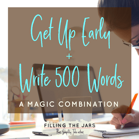 Have you lost your creative writing flow? Click through to read about rediscovering the magic of writing 500 words a day -- and how to find time to do it. #amwriting #writinglife #dailyroutine #goals