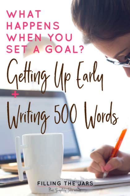 If you're a writer or a blogger, you know how important it is to find time to write and keep the creativity flowing. Click through to read about rediscovering the magic of writing 500 words a day -- and how to find time to do it. #amwriting #writinglife #writingtips #morningroutine #morningwriting #my500words #dailyroutine #goals #writingchallenge #coffeeandwriting #bloggingtips #writingprompts #ftj