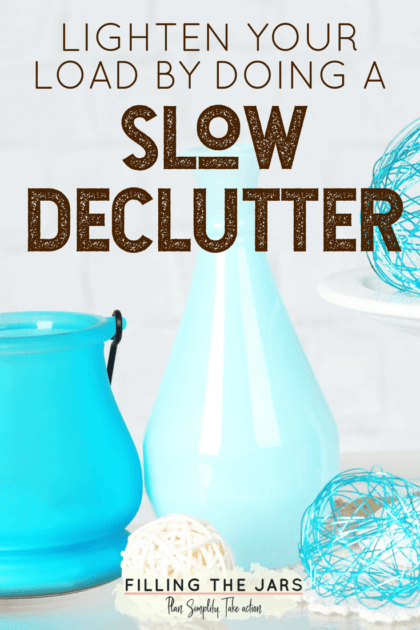 I've decluttered more than 800 items in less than two months with NO stress and NO mess. Learn more about the Slow Declutter method, and why it's perfect for overwhelmed overthinkers… #simplify #organizing #tidyhouse #decluttering #minimalism #organizedhome #lifehacks #declutter #simpleliving #buildyourbestlife #ftj