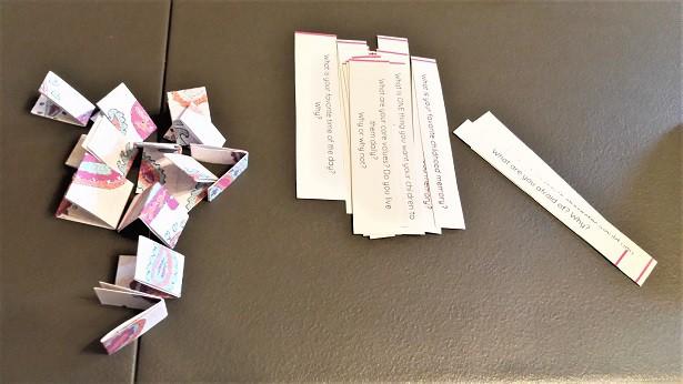 journal jar prompts half cut half folded