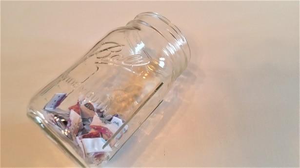 journal jar prompts in mason jar
