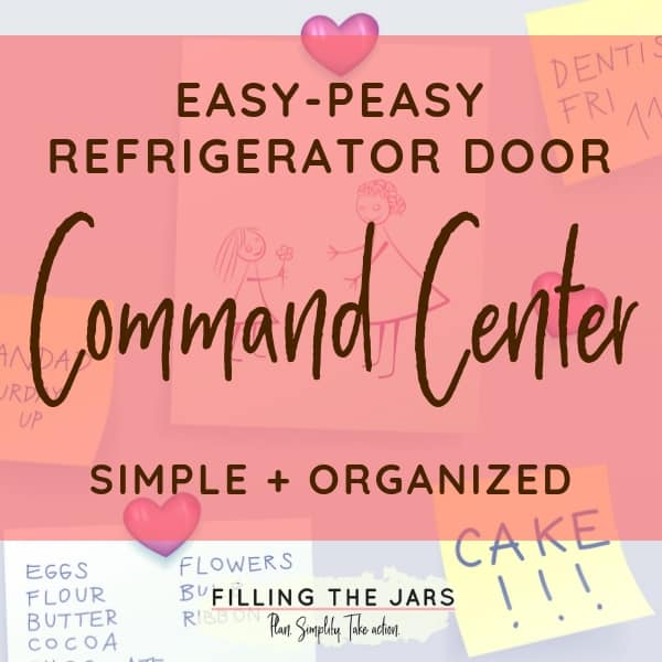Here's an easy command center made with just a few Amazon picks -- perfect for families who are tired of their messy refrigerator doors!