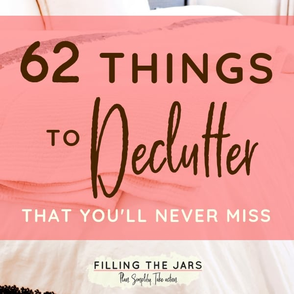This list of things to declutter will help you get rid of stuff so fast you'll feel like a professional organizer. Grab your printable checklist today!