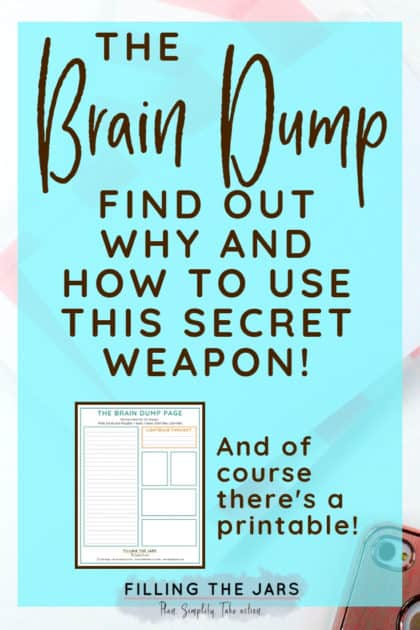 This brain dump printable is exactly what I've been looking for! If you feel overwhelmed or like you've lost your focus, you totally need this! You can do all the messy thinking right on this page and then create a productive action plan to reach your goals. #printable #dailyroutine #intentionalliving #planning #productivity #ftj