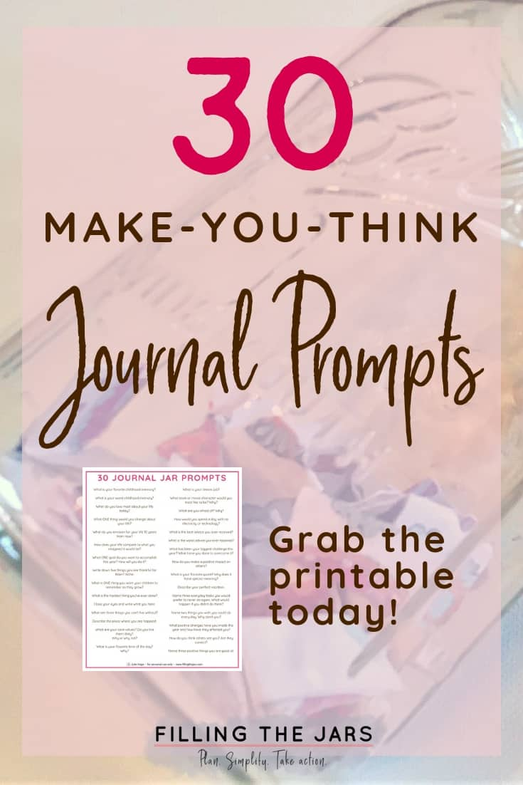 I'm loving these printable journal prompts! They're making me think about some of my intentional living goals, and realize I need to bring more mindfulness to my life! Click through to grab the list of writing prompts, plus get recommendations for printing materials, journals, and pens. You can even turn this into a gift! #amwriting #journaling