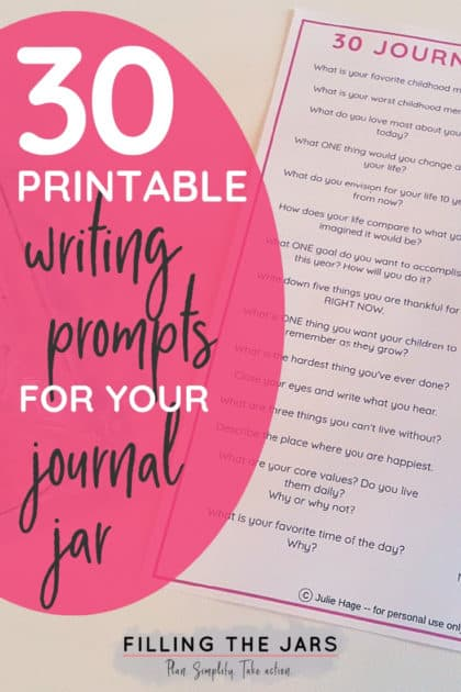 30 Printable Journal Jar Prompts To Inspire Reflection Filling The Jars