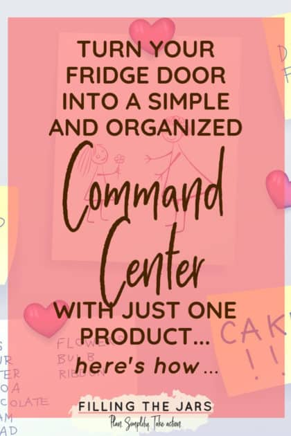 Creating a home organizing command center doesn't have to be expensive or take a lot of DIY skills. If a magnet will stick to your refrigerator door, then you can set up your own customized command center in just a few minutes. Click through to learn how… #organizing #homeorganizing