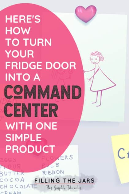 Ready to clean up the front of your refrigerator and organize your life at the same time? This easy command center is for you! Click through to read how to use just one product to make a simple and effective command center… #homeorganizing #commandcenter