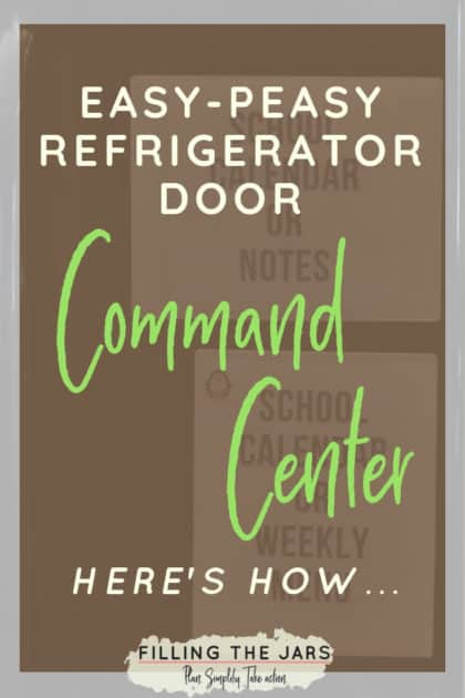 This command center is so simple and really helps keep my family organized! It's made with just a few Amazon picks -- perfect for families who are tired of their messy refrigerator doors AND who want organized made easy! #commandcenter #organizing