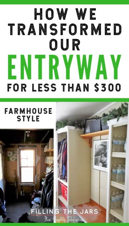 Love this bright, organized, and functional entryway! Read through to find out how it was done on a budget and what products really make it work. #DIY #mudroom #farmhousedecor