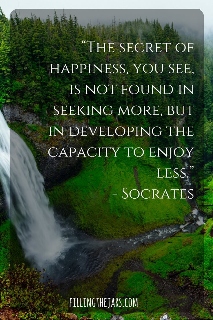 socrates motivational quote white block text on mountain waterfall photo background
