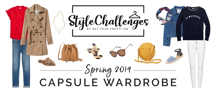 spring capsule wardrobe tops jackets pants accessories