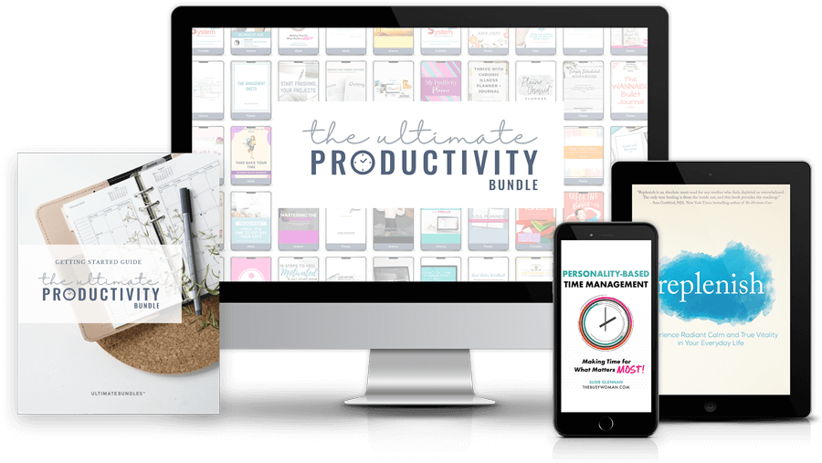 monitor tablet and phone images with ultimate productivity bundle graphics