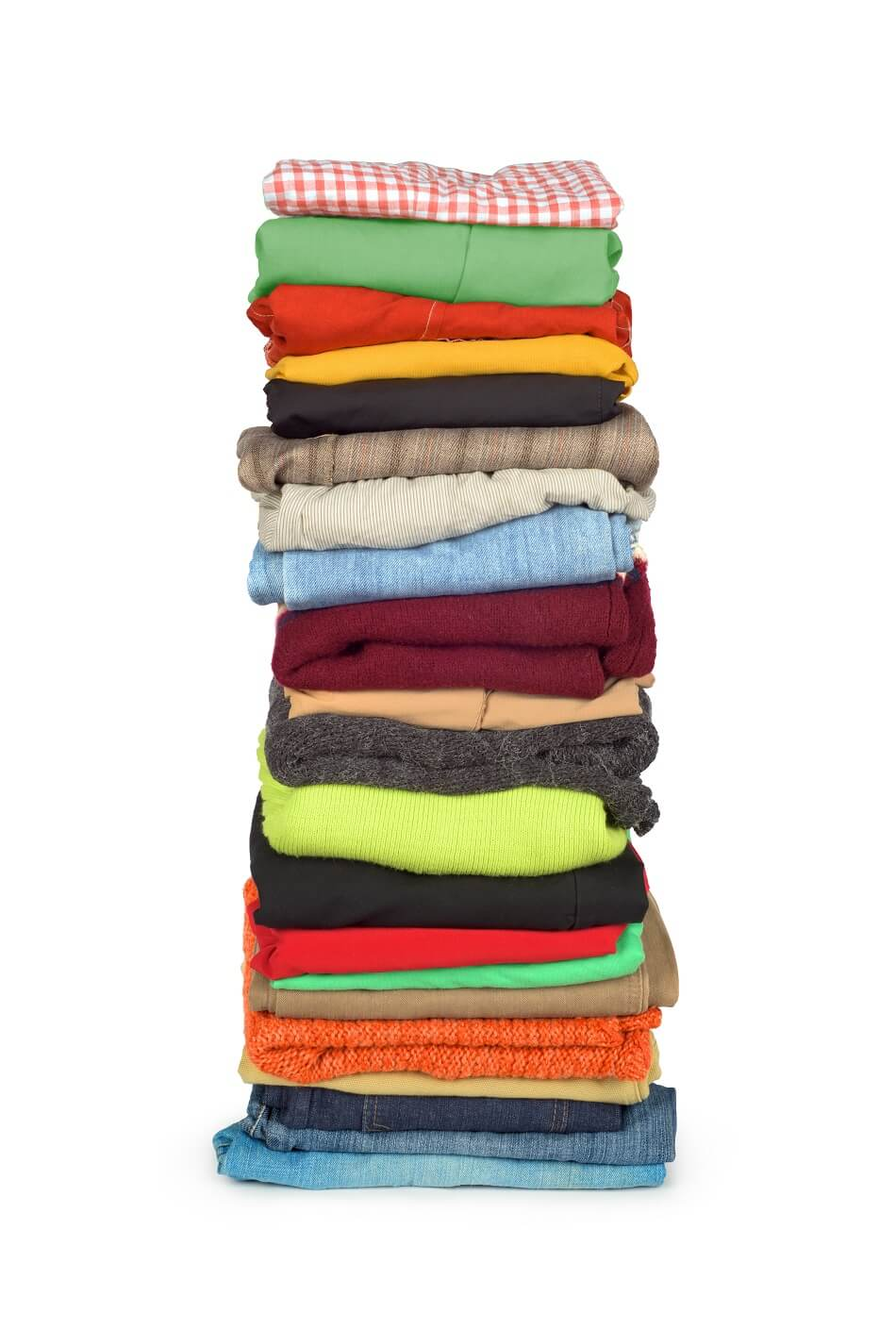 stack of clothing that needs to be decluttered