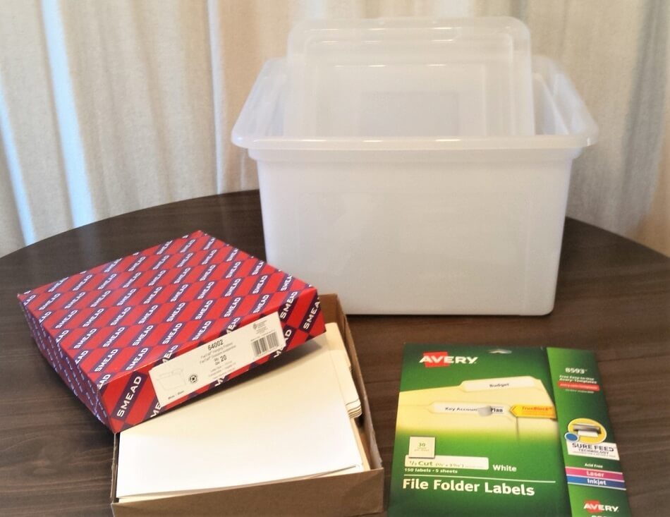 how to create a school memory box with letter legal file box white file folders and file labels