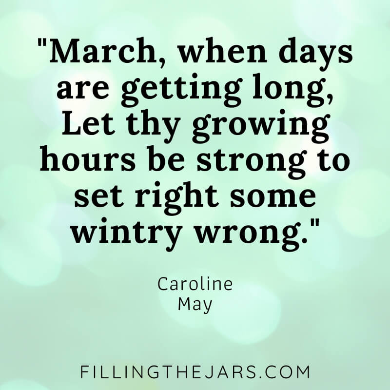 17 Best Month of March Quotes | Filling the Jars