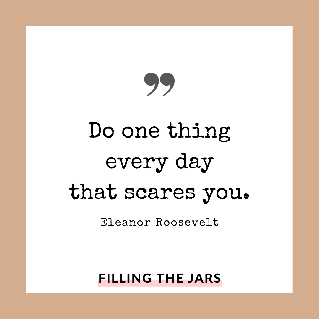 Eleanor Roosevelt do one thing quote on white background over beige