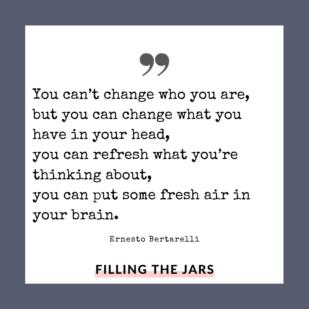 Ernesto Bertarelli fresh change quote on white background over navy