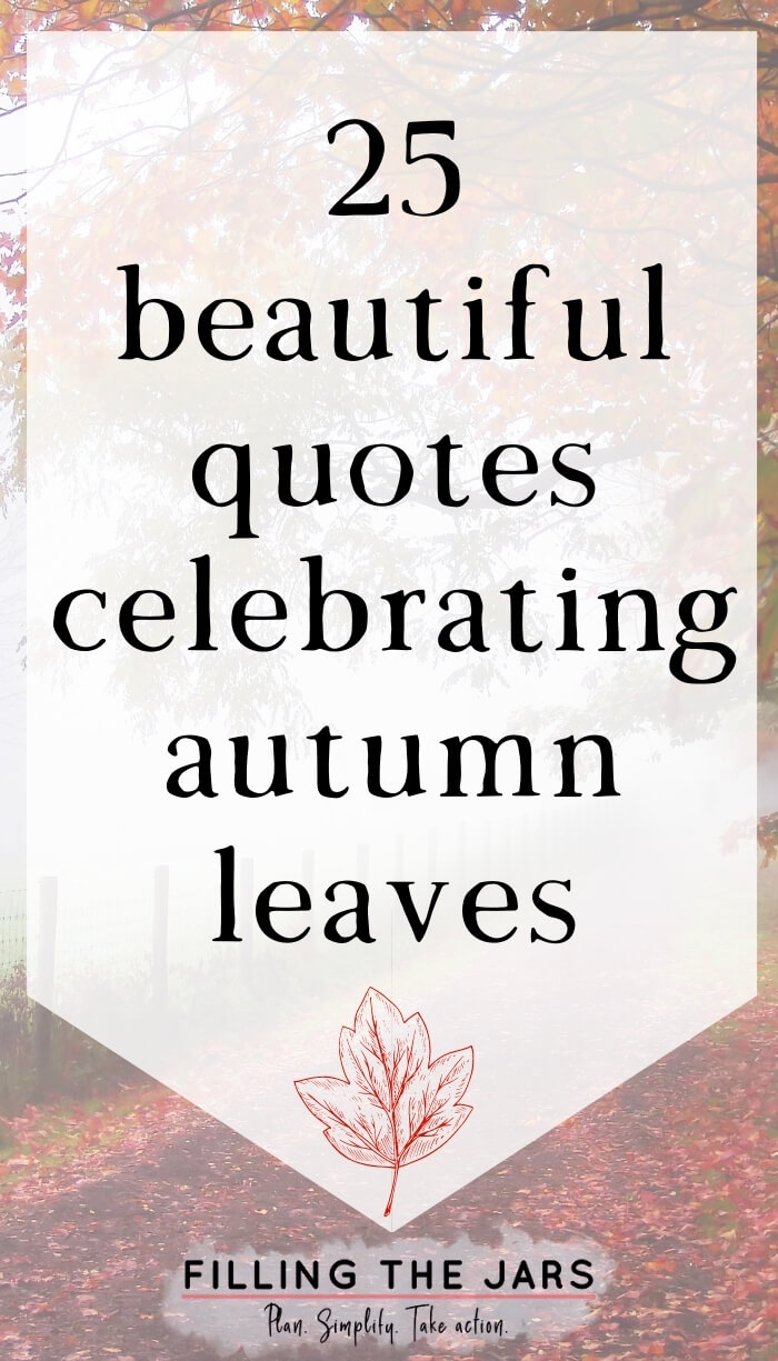faded background of falling red leaves with white overlay and text beautiful quotes celebrating autumn leaves