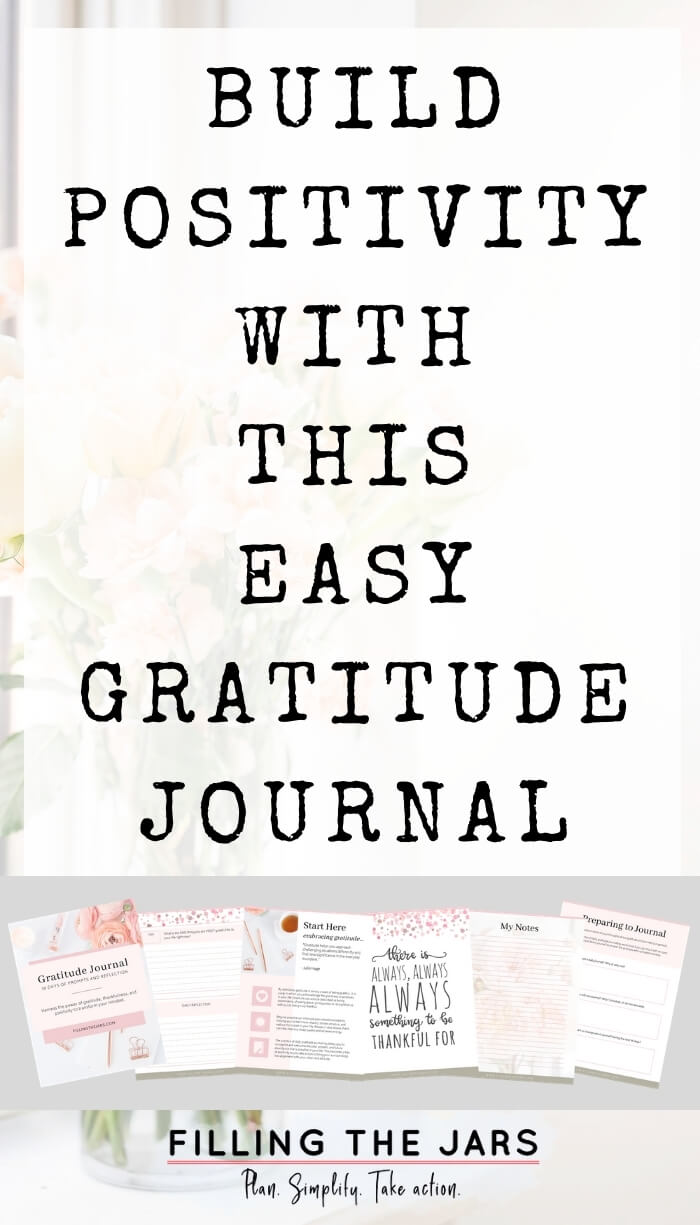 page spread on white background with text easy gratitude journal