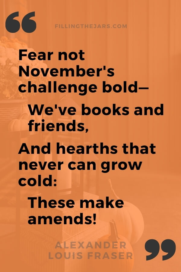 Alexander Louis Fraser we have books and friends quote in black text on orange background